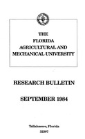 Research bulletin - Florida Agricultural and Mechanical University. 1984