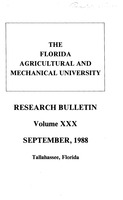 Research bulletin - Florida Agricultural and Mechanical University. 1988