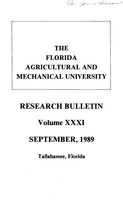 Research bulletin - Florida Agricultural and Mechanical University. 1989