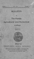 Bulletin - Florida Agricultural and Mechanical College for Negroes, Tallahassee 1912-1913 Twenty-sixth edition