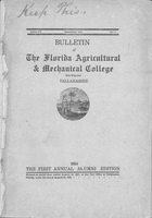 Bulletin of the Florida Agricultural and Mechanical College (for Negroes). Series VII. No. 1