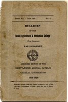 Bulletin of the Florida Agricultural and Mechanical College : Abridged edition of the Thirty-Third Annual Catalogue General Information, 1919-1920