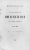 Tenth Annual Catalogue 1896-1897; Florida State Normal and Industrial College for Colored Students