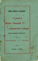 Ninth Annual Catalogue 1895-1896; Florida State Normal and Industrial College for Colored Students