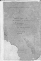 Twelfth Annual Catalogue 1898-1899; Florida State Normal and Industrial College for Colored Students, Tallahassee, Florida