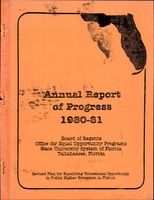 Annual report of progress (1980-1981) Revised Plan for Equalizing Educational Opportunity in Public Higher Education in Florida