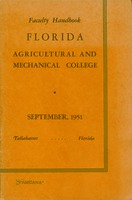 Faculty handbook Florida Agricultural and Mechanical University September, 1951