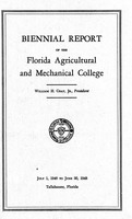 Biennial Report of the Florida Agricultural and Mechanical College 1946 - 1948