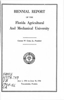 Biennial report of the Florida Agricultural and Mechanical University