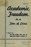 Academic freedom in a time of crisis
