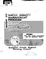 208 Water Quality Management Plan for Southwest Florida