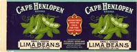 Canning label of Cape Henlopen
