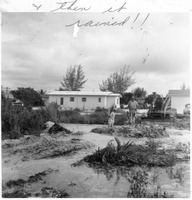 [Flood before Dugger's Tropical Village was constructed]