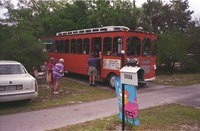 Particpants Board the Sanibel Trolley