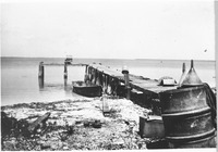 [The Woodring family Dock at the mouth of Tarpon Bay on Woodring Point]