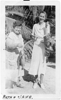Ruth Wiles Rutland (right) and Friend, Jane, with Some Fish