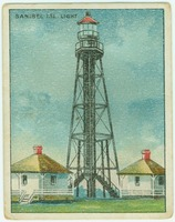 """Sanibel ISL. Light"" on Tobacco Card"
