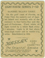 Back of Sanibel Lighthouse Tobacco Card