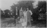 Group Posed In Front of the Sawyer Cottage