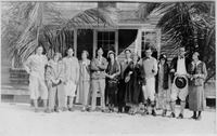 Group In Front of the Snyder Boys School
