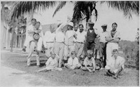 Group of Boys and Teachers on the East Side of Captiva