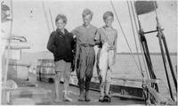 The Boys School Sailing Vessel with Three Young Boys