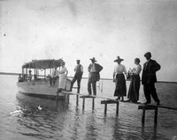 Group On a Footplank at Tarpon Bay