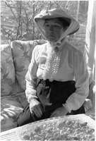 [Betty Williamson portrays an historic character at the White Heron House]