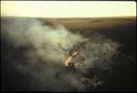 [Aerial, fire in the Pinelands]