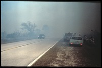 [Smoke Across 41 from Prairie Fire]