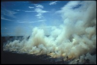 [Aerial of smoke from Prairie Fire]