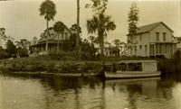 "Sanitorium on Estero River with the boat called ""The Star"""