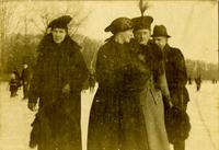 Group posing in Winter scene