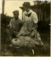 Imogene Bubbett Rahn riding gopher tortoise