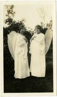 Two Koreshan girls dressed like angels