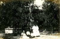 Group of Five Koreshan Women Gather by Bamboo Landings