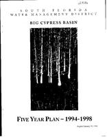 Big Cypress Basin Five Year Plan, 1994-1998
