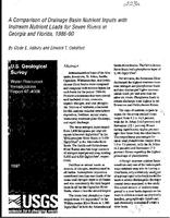 Comparison of Drainage Basin Nutrient Inputs with Instream Nutrient Loads for Seven Rivers in Georgia and Florida, 1986-90