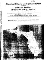 Chemical Effects of Highway Runoff on the Surficial Aquifer, Broward County, Florida