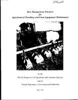 Best Management Practices for Agrichemical Handling and Farm Equipment Maintenance