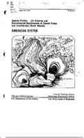 Species Profiles: Life Histories and Environmental Requirements of Coastal Fishes and Invertebrates (South Atlantic): American Oyster
