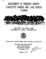 Assessment of Fisheries Habitat: Charlotte Harbor and Lake Worth, Florida