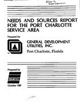 Needs and Sources Report for the Port Charlotte Service Area