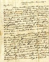 1833 Letter from President Andrew Jackson to William Donelson (Original Letter)
