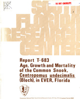 Age, Growth and Mortality of the Common Snook, Centropomus undecimalis (Bloch), in Everglades National Park, Florida