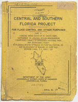 General design memorandum, conveyance canals to Everglades National Park and South Dade County