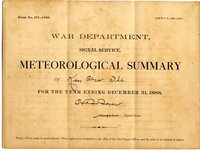 Meteorological summary of Key West, Fla. for the year ending December 31, 1888