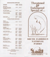 Threatened and Endangered Species of Everglades National Park