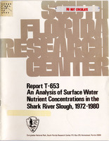 Analysis of Surface Water Nutrient Concentrations in the Shark River Slough, 1972-1980