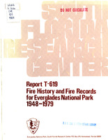 Fire history and fire records for Everglades National Park, 1948-1979